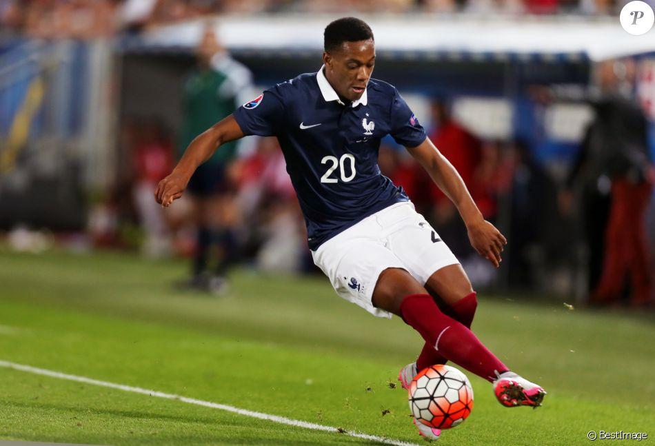 Anthony Martial - Match amical France-Serbie à Bordeaux le 7 septembre 2015. La France bat la Serbie grâce à un doublé de Matuidi (2-1)