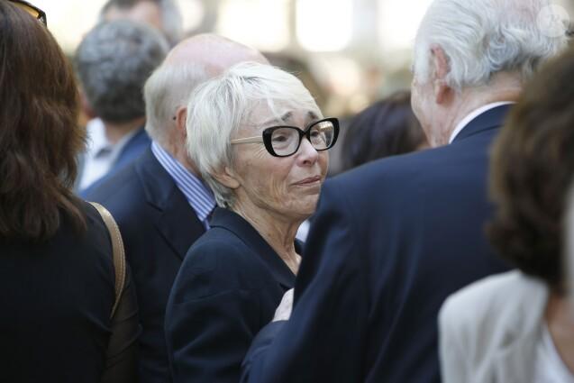 Sylvie Rocard lors de la cérémonie en hommage à Michel Rocard au Temple de l'Eglise Protestante Unie de l'Etoile à Paris, le 7 juillet 2016. © Alain Guizard/Bestimage