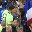 Exclusif - Benoît Costil à nouveau très proche de Malika Ménard à la fin du match de l'UEFA Euro 2016 Allemagne-France au stade Vélodrome à Marseille, France le 7 juillet 2016. © Cyril Moreau/Bestimage