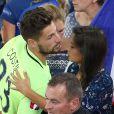 Exclusif - Benoît Costil et Malika Ménard à la fin du match de l'UEFA Euro 2016 Allemagne-France au stade Vélodrome à Marseille, France le 7 juillet 2016. © Cyril Moreau/Bestimage