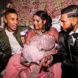 """Exclusif - Eddy des Anges, fiançailles de Sarah Fraisou (""""Les Anges 8"""") avec Malik, la cérémonie s'est déroulée dans une salle des fêtes de la région parisienne en présence de leurs familles le 8 juillet 2016."""