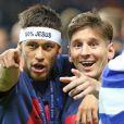 Lionel Messi et Neymar - Le FC Barcelone remporte la Ligue des Champions contre la Juventus à Berlin en Allemagne le 6 juin 2015