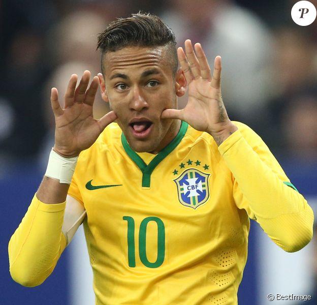 Neymar au match amical France - Brésil au Stade de France à Saint-Denis le 26 mars 2015.