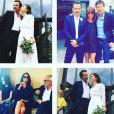 Axelle Laffont et sa famille au mariage de Fabrice, le 11 juillet 2016