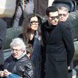 Françoise Bettencourt-Meyers et son fils Victor Meyers, Michel Boujenah - Hommage national à Alain Decaux à l'Hôtel national des Invalides à Paris, le 4 avril 2016. © Cyril Moreau/Bestimage