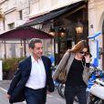 """Nicolas Sarkozy et sa femme Carla Bruni-Sarkozy sont allés diner au restaurant """"La Petite Maison"""" après avoir participé aux Journées d'études du Parti Populaire Européen à l'hôtel Méridien à Nice, le 1er juin 2016. © Bruno Bébert/Bestimage"""