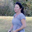 Shannen Doherty et sa mère s'entrainent avec leur coach personnel à Malibu le 28 octobre 2015.