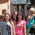 Olivier Giroud avec sa femme Jennifer et leur fille Jade à Saint-Tropez le 19 juillet 2016.