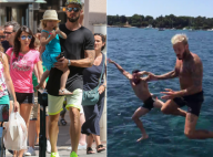 Olivier Giroud : En famille à Saint-Tropez... et en bombe avec M. Pokora !