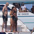 La top model Doutzen Kroes passe ses vacances avec son mari Sunnery James et leurs enfants, Phyllon Joy Gorré et Myllena Mae Gorré, à Formentera et Ibiza. Le 25 juillet 2016