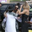 La famille Kardashian (Kourtney, Scott Disick et leurs trois enfants, Kim et sa fille North, Khloé Kardashian, Kendall Jenner, Kris Jenner, son compagnon Corey Gamble et sa mère Mary Jo Campbell) passe l'après-midi à l'hippodrome Del Mar. Del Mar, le 26 juillet 2016.