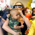 Kim Kardashian et Saint West à La Jolla. Le 26 juillet 2016.