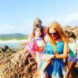 Lindsay Lohan en vacances avec des amis après sa rupture avec Egor Tarabasov. Photo publiée sur Instagram à la fin du mois de juillet 2016