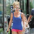 Britney Spears  dans les rues de Los Angeles, le 30 juillet 2016