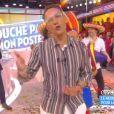 """Julien Courbet fait ses adieux à """"Touche pas à mon poste"""" sur D8, le 8 juillet 2016."""