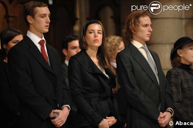 Pierre, Charlotte et Andrea Casiraghi