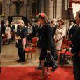 La famille princière arrive à la Grand'messe