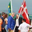 Frederik et Mary de Danemark. La famille royale de Danemark, sous la houlette du prince Frederik, inaugurait le 2 août 2016 le pavillon danois Heart of Danemark sur la plage d'Ipanema, à Rio de Janeiro, installé dans le cadre des Jeux olympiques.