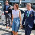 Mary et Frederik de Danemark. La famille royale de Danemark, sous la houlette du prince Frederik, inaugurait le 2 août 2016 le pavillon danois Heart of Danemark sur la plage d'Ipanema, à Rio de Janeiro, installé dans le cadre des Jeux olympiques.