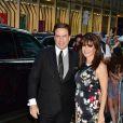 John Travolta et sa femme Kelly Preston arrivant au 90ème anniversaire de Tony Bennett à New York, le 3 août 2016. © CPA/Bestimage