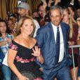Katie Couric et son mari John Molner arrivant au 90ème anniversaire de Tony Bennett à New York, le 3 août 2016.