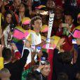 Gustavo Kuerten porte la flamme olympique - Cérémonie d'ouverture des JO à Rio, au Brésil, le 5 août 2016