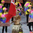 Le sexy Pita Nikolas Taufatofua porte-drapeau pour le Tonga - Cérémonie d'ouverture des JO à Rio, au Brésil, le 5 août 2016
