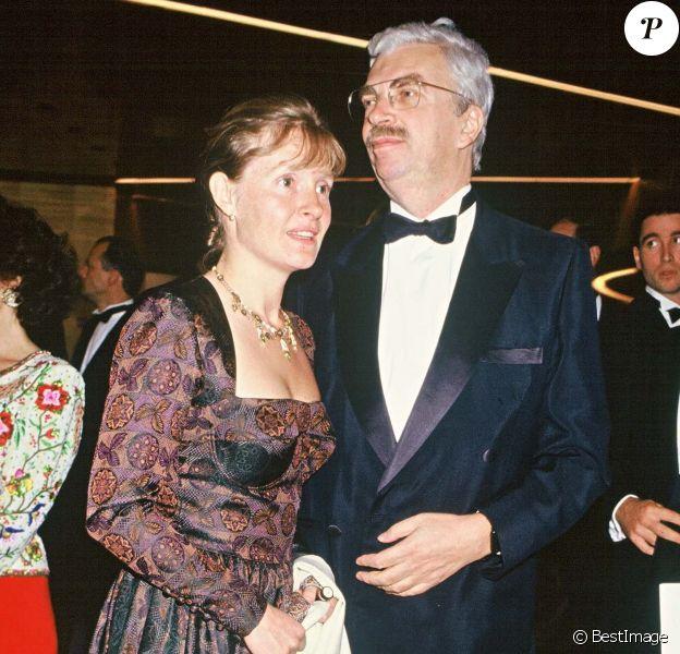 Daniel Toscan du Plantier et sa femme Sophie à Cannes 1991.