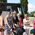 Des invités au mariage de Kimi Räikkönen et Minttu Virtanen en l'abbaye cistercienne de San Galgano, le 7 août 2016 dans la province de Sienne, en Toscane. Photo by Claudio Giovannini/Ansa/ABACAPRESS.COM