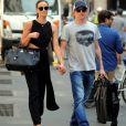Exclusif - Kimi Räikkönen et Minttu Virtanen le 27 juillet 2016 lors de l'achat de la robe de mariée de la jeune femme chez Armani à Milan en prévision de leur mariage célébré le 7 août en l'abbaye de San Galgano dans la province de Sienne.