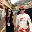 Kimi Räikkönen et sa compagne Minttu Virtanen lors du Grand Prix de Formule 1 de Monaco, le 23 mai 2015.