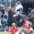 Dwayne Johnson sur le tournage de 'Fast 8' à Atlanta, le 7 juillet 2016