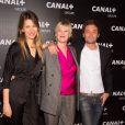 Lauren Bastide, Maïtena Biraben et Augustin Trapenard - Soirée des animateurs du Groupe Canal+ au Manko à Paris. Le 3 février 2016
