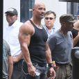 """Dwayne Johnson (The Rock) sur le tournage de """"Fast & Furious 8"""" à Atlanta, le 12 juillet 2016."""