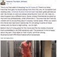 """Dwayne Johnson poussant un coup de gueule contre certains de ses partenaires du film """"Fast & Furious 8"""" lundi 8 août 2016"""