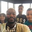 Photo de Djibril Cissé et ses trois garçons Cassius, Prince et Marley publiée le 14 août 2016.