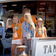 La reine Maxima des Pays-Bas, le roi Willem Alexander et leurs filles les princesses Amalia, Alexia et Ariana sur le yacht Tamarind lors des Jeux Olympiques (JO) de Rio 2016 à Rio de Janeiro le 14 août 2016. 14/08/2016 - Rio de Janeiro