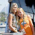 La reine Maxima des Pays-Bas et sa fille la princesse Amalia sur le yacht Tamarind lors des Jeux Olympiques (JO) de Rio 2016 à Rio de Janeiro le 14 août 2016. 14/08/2016 - Rio de Janeiro