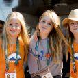 Les princesse Amalia, Alexia et Ariana des Pays-Bas sur le yacht Tamarind lors des Jeux Olympiques (JO) de Rio 2016 à Rio de Janeiro le 14 août 2016. 14/08/2016 - Rio de Janeiro