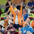 Le roi Willem Alexander, la reine Maxima, et leurs filles les princesses Amalia, Alexia et Ariane - La famille royale des Pays-Bas lors de la finale femmes de gymnastique artistique durant les Jeux Olympiques (JO) 2016 de Rio de Janeiro. Le 15 août 2016 15/08/2016 - Rio de Janeiro