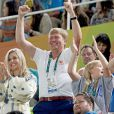 Le roi Willem Alexander et la reine Maxima - La famille royale des Pays-Bas lors de la finale femmes de gymnastique artistique durant les Jeux Olympiques (JO) 2016 de Rio de Janeiro. Le 15 août 2016 15/08/2016 - Rio de Janeiro