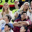Le roi Willem Alexander, la reine Maxima - La famille royale des Pays-Bas lors de la finale femmes de gymnastique artistique durant les Jeux Olympiques (JO) 2016 de Rio de Janeiro. Le 15 août 2016 15/08/2016 - Rio de Janeiro