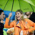 La reine Maxima - La famille royale des Pays-Bas lors des 1/4 de finale femmes de hockey sur gazon durant les Jeux Olympiques (JO) 2016 de Rio de Janeiro. Le 15 août 2016 15/08/2016 - Rio de Janeiro