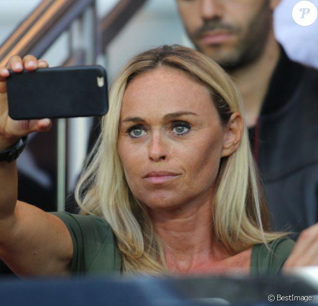 Cécile de Ménibus - People lors du match de Ligue 1 PSG-Metz - 2ème journée au Parc des Princes à Paris, le 21 août 2016. © Marc Ausset Lacroix/Bestimage