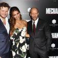 Dennis Gansel, Jessica Alba, Jason Statham- Avant-première du film Mechanic: Résurrection à Hollywood, le 22 août 2016 (photomontage)
