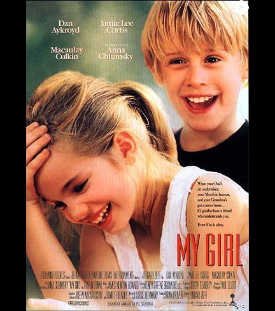 """Anna Chlumsky et Macaulay Culkin dans """"My Girl"""" en 1991."""