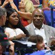 Mike Tyson, Leslie Odom Jr. lors de la cérémonie d'ouverture de l'US Open 2016 au USTA Billie Jean King National Tennis Center à Flushing Meadow, New York City, New York, Etats-Unis, le 29 août 2016.