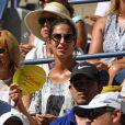 Xisca Perello assiste au match de son compagnon Rafael Nadal à l'US Open 2016 au USTA Billie Jean King National Tennis Center à New York, le 29 août 2016.