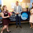 Le prince William et Kate Middleton, duc et duchesse de Cambridge, au foyer de jeunes Zebs à Truro le 1er septembre 2016, lors de leur visite officielle en Cornouailles.