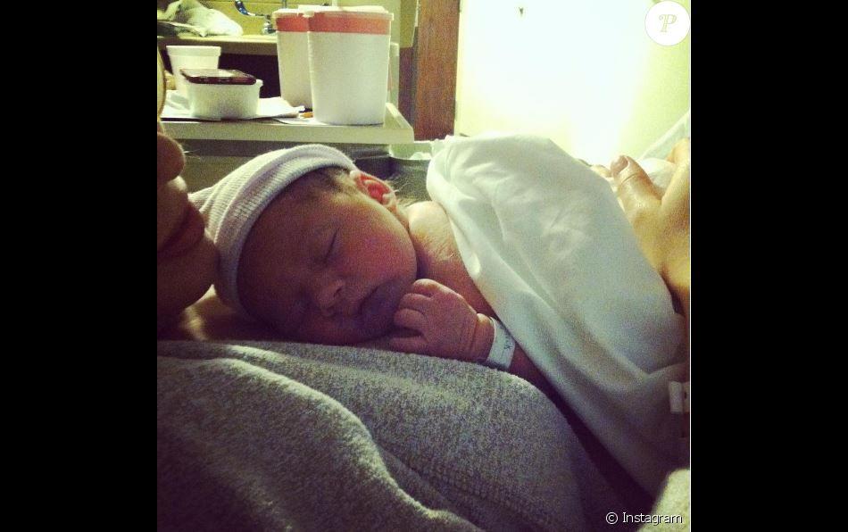 Erin Slaver pose avec son bébé, le 3 septembre 2016 à Nashville.